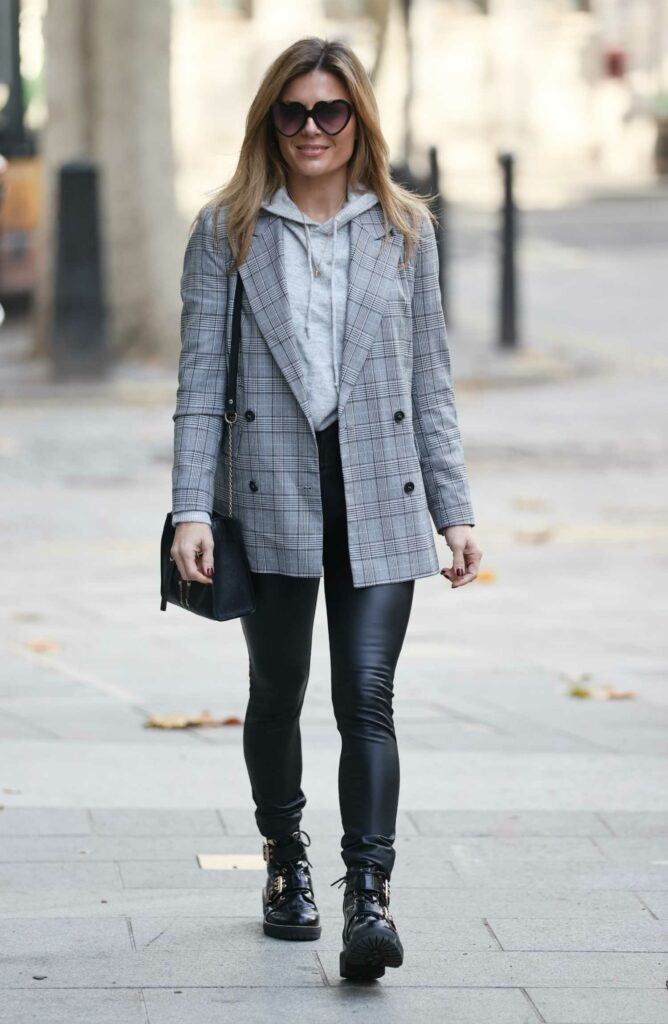 Zoe Hardman in a Grey Checked Blazer
