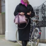 Alice Eve in a Black Coat Was Seen Out in London
