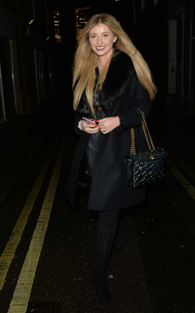 Amy Hart in a Black Coat