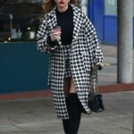 Amy Hart in a Grey Coat Was Seen Out in Worthing, Sussex
