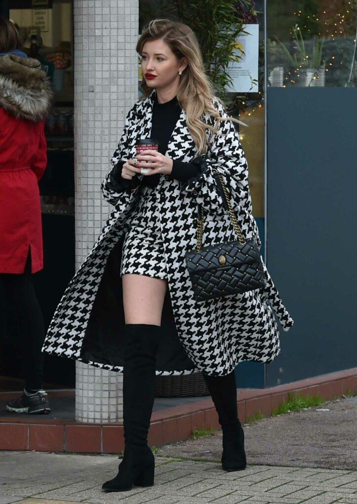 Amy Hart in a Grey Coat