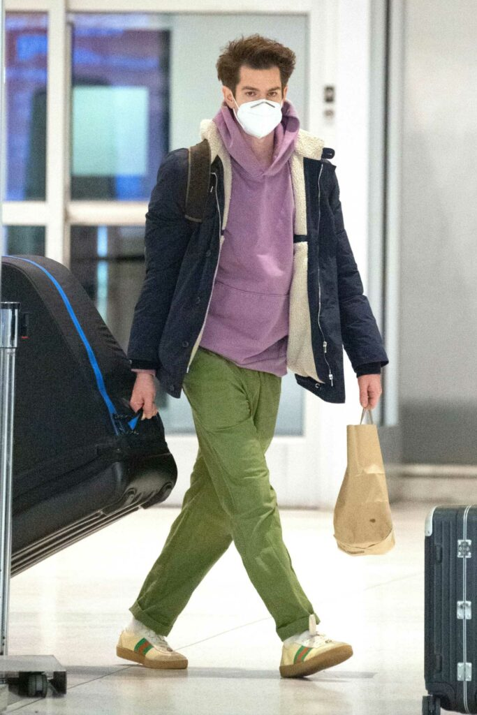Andrew Garfield in a Green Pants