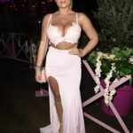 Apollonia Llewellyn in a Pink Outfit Arrives for the Boujee Restaraunt Launch Party in Liverpool