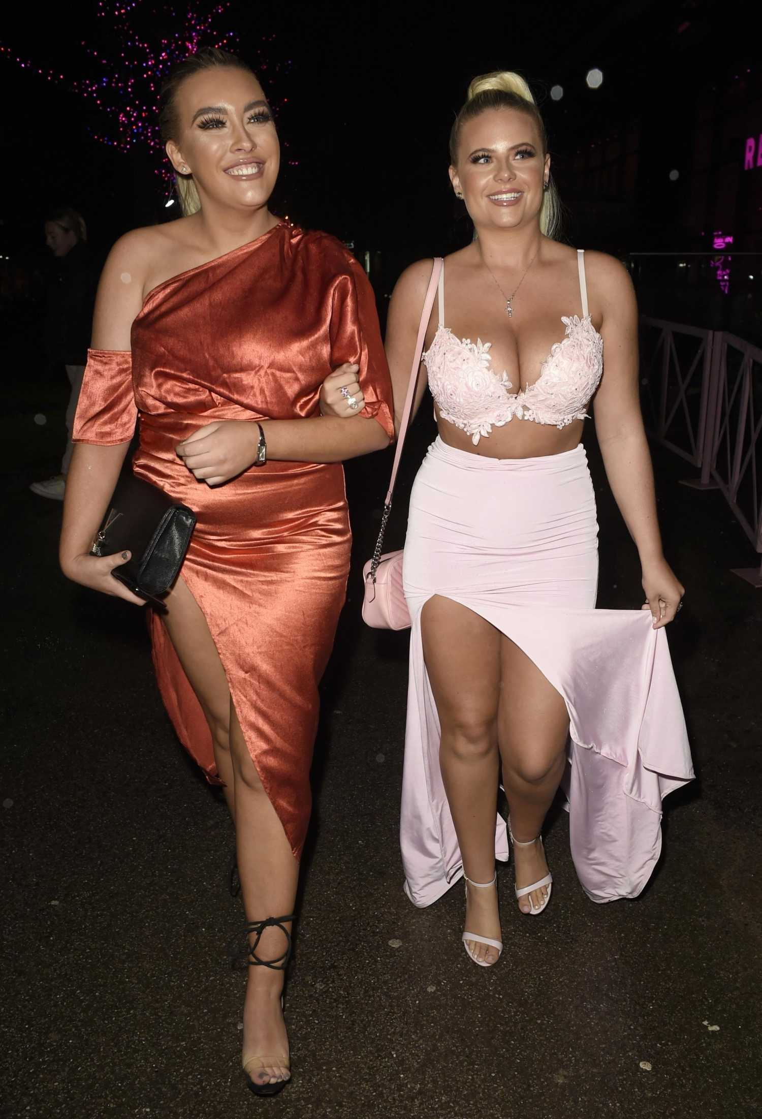 Apollonia Llewellyn in a Pink Outfit Arrives for the