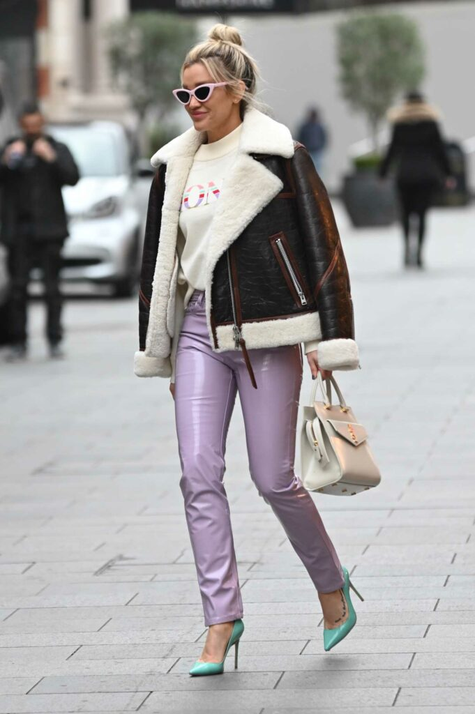 Ashley Roberts in a Purple Pants