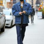 Bella Hadid in a Blue Denim Jacket Was Seen Out in New York
