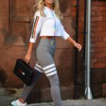 Christine McGuinness in a Grey Leggings Was Seen Out in Manchester
