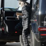Diane Keaton in a Black Hat Parks Her Car in Los Angeles