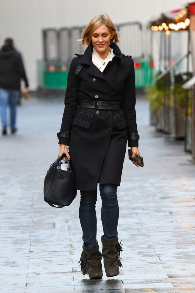 Jenni Falconer in a Black Coat