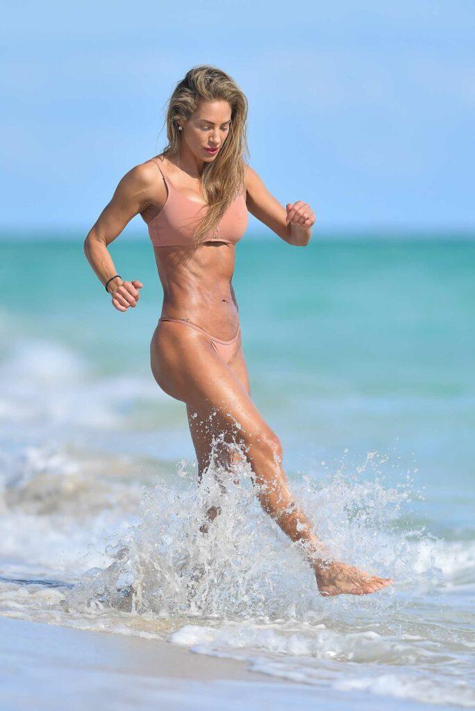 Jennifer Nicole Lee in a Pink Bikini