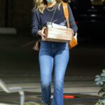 Jessica Alba in a Protective Mask Arrives at The Honest Company in Los Angeles