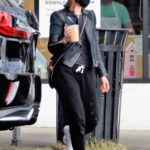 Kate Mara in a Tan Beanie Hat Heads Out for Coffee in Los Angeles