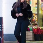 Lauren Goodger in a Black Outfit Was Seen at Her Local Petrol Station in Chigwell
