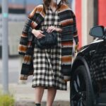 Mandy Moore in a Checkered Black and White Dress Was Seen Out in Los Angeles