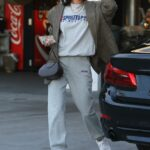 Nicole Williams in a White Sneakers Was Seen Out in Downtown, Los Angeles