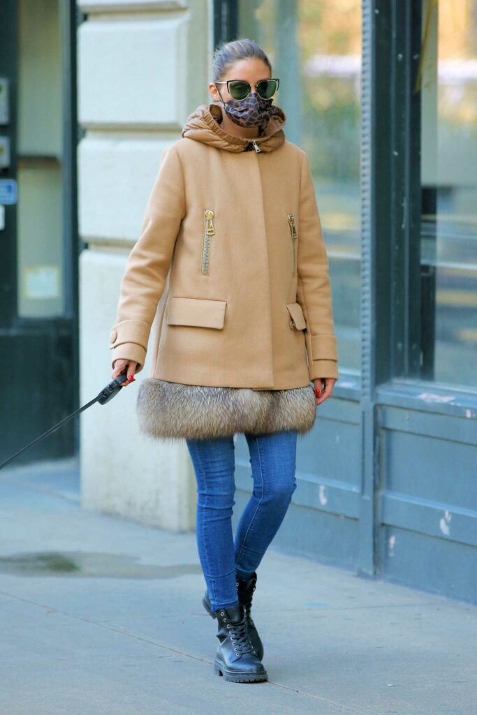 Olivia Palermo in a Beige Coat