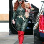 Phoebe Price in a Green Catsuit Was Seen at the Parking Lot of Petco in Los Angeles