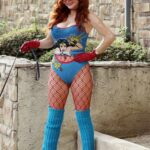 Phoebe Price in a Wonder Woman Outfit Walks Her Dog in Los Angeles