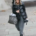 Rachel Stevens in a Black Puffer Jacket Was Seen Out in London