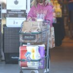 Sarah Michelle Gellar in a Purple Hoodie Does Grocery Run in Santa Monica