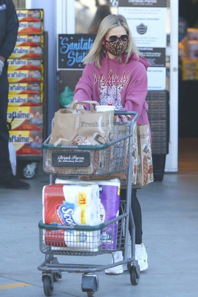 Sarah Michelle Gellar in a Purple Hoodie