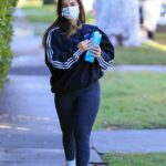 Addison Rae in a Grey Leggings Heads to Her Workout in Los Angeles
