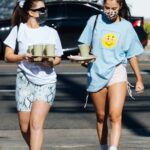 Addison Rae in a White Tee Was Seen Out with Tessa Brooks in Los Angeles