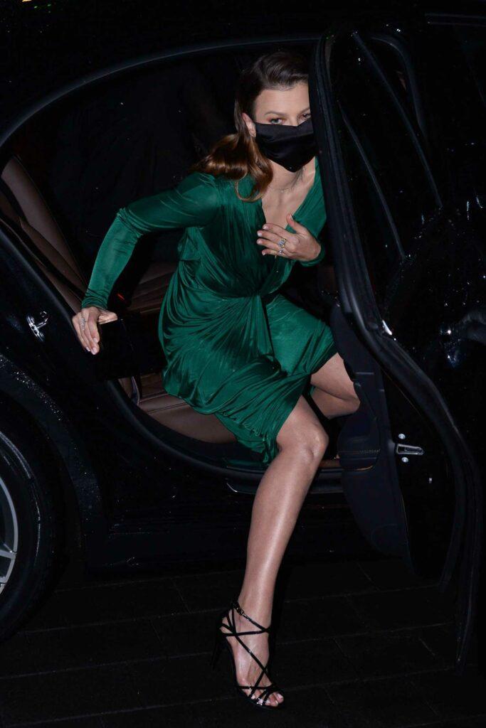 Anna Lewandowska in a Green Dress