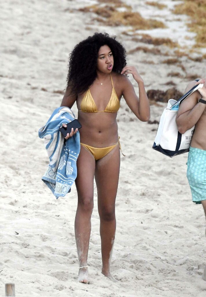 Aoki Lee Simmons in a Gold Bikini
