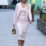 Ashley Roberts in a Pink Outfit Leaves the Global Radio in London