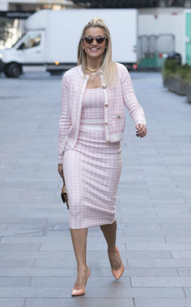 Ashley Roberts in a Pink Outfit