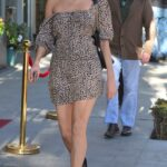 Blanca Blanco in an Animal Print Mini Dress Was Seen Out in Beverly Hills