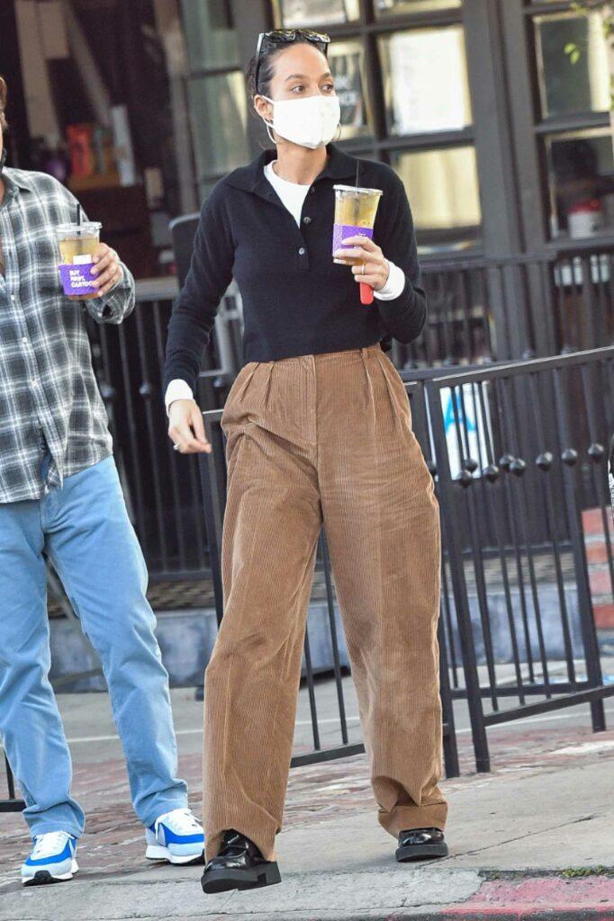 Cara Santana in a Tan Pants