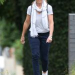 Deborah Hutton in a White Hat Was Seen Out in the Eastern Suburbs of Sydney