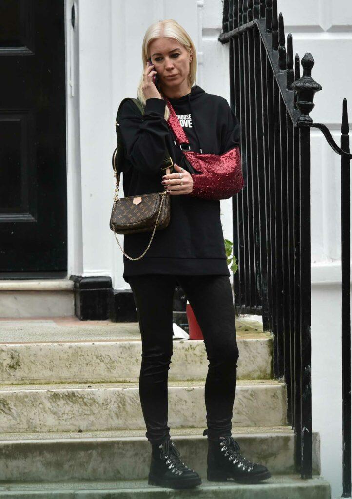 Denise Van Outen in a Black Hoodie