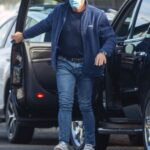 Dolph Lundgren in a Blue Track Jacket Was Seen Out with Emma Krokdal in Los Angeles