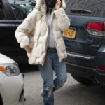Emily Ratajkowski in a Beige Jacket Was Seen Out in New York