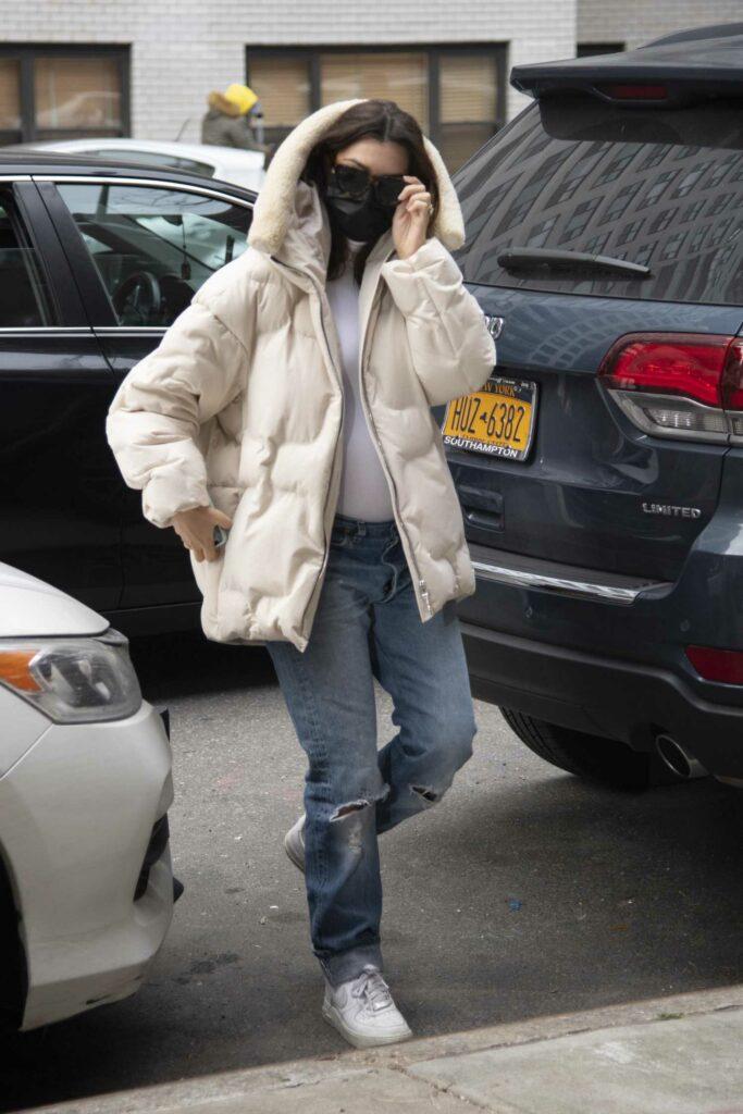 Emily Ratajkowski in a Beige Jacket