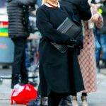 Hilary Duff in a Black Coat Filming Younger in Downtown, Manhattan