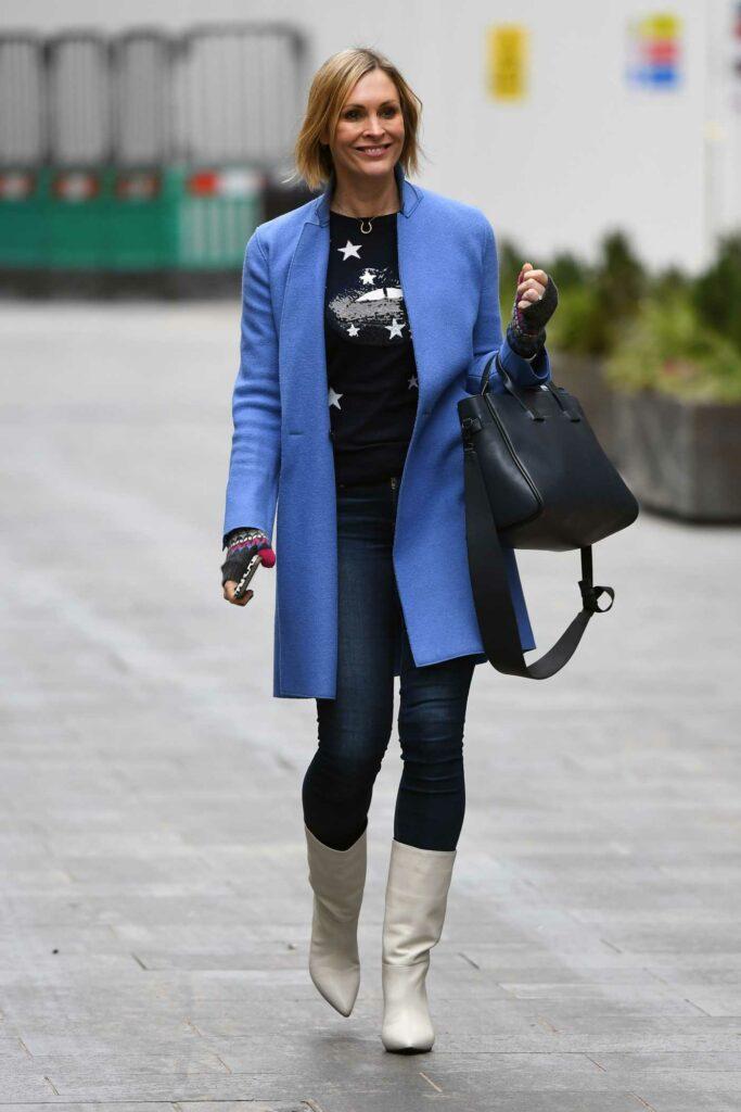 Jenni Falconer in a Blue Coat