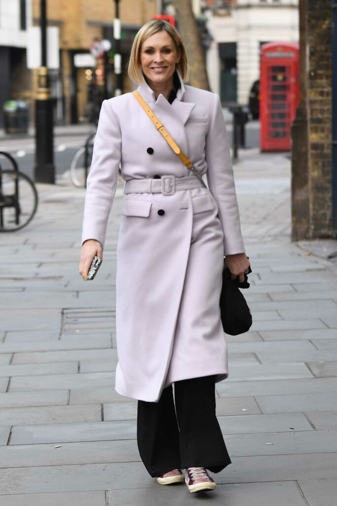 Jenni Falconer in a Purple Coat