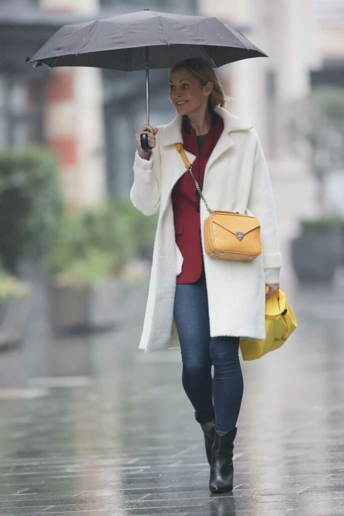 Jenni Falconer in a White Coat