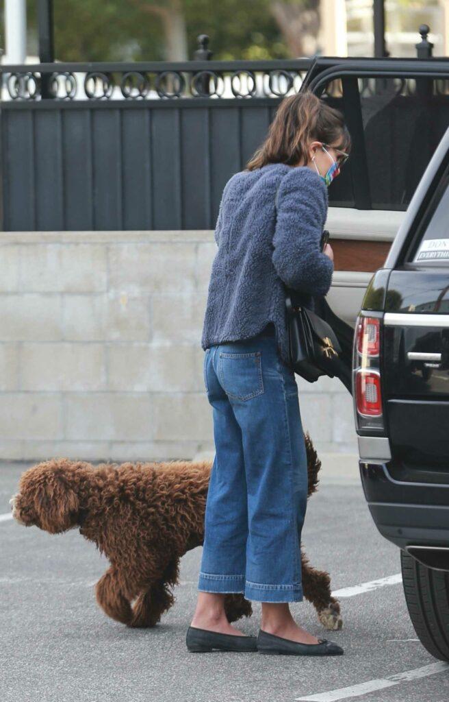 Jordana Brewster in a Grey Jacket