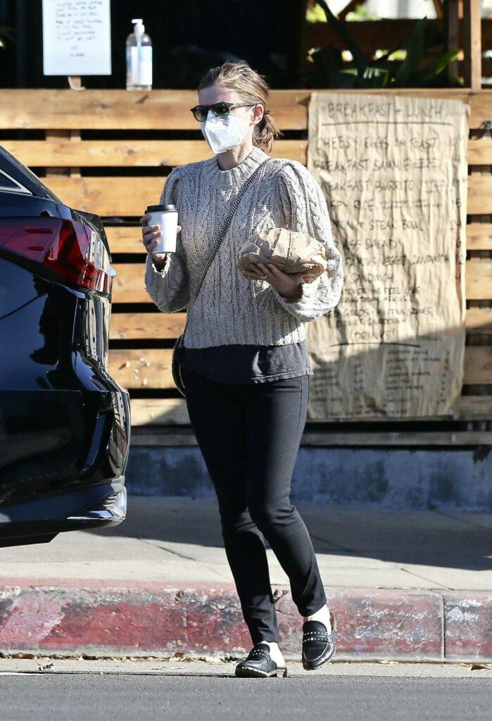 Kate Mara in a Grey Sweater
