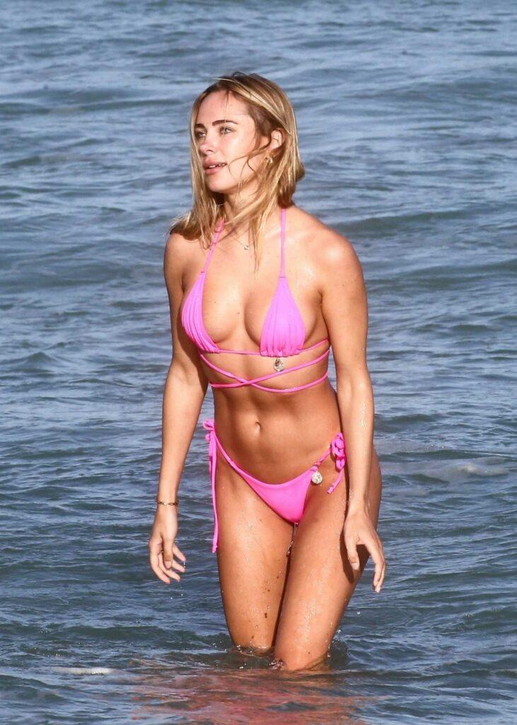 Kimberley Garner in a Purple Bikini