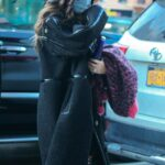 Megan Fox in a Black Coat Arrives at a Hotel in New York