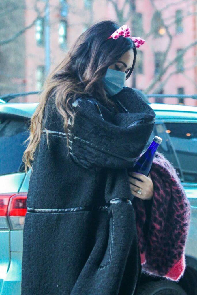 Megan Fox in a Black Coat