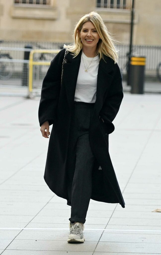 Mollie King in a Black Coat