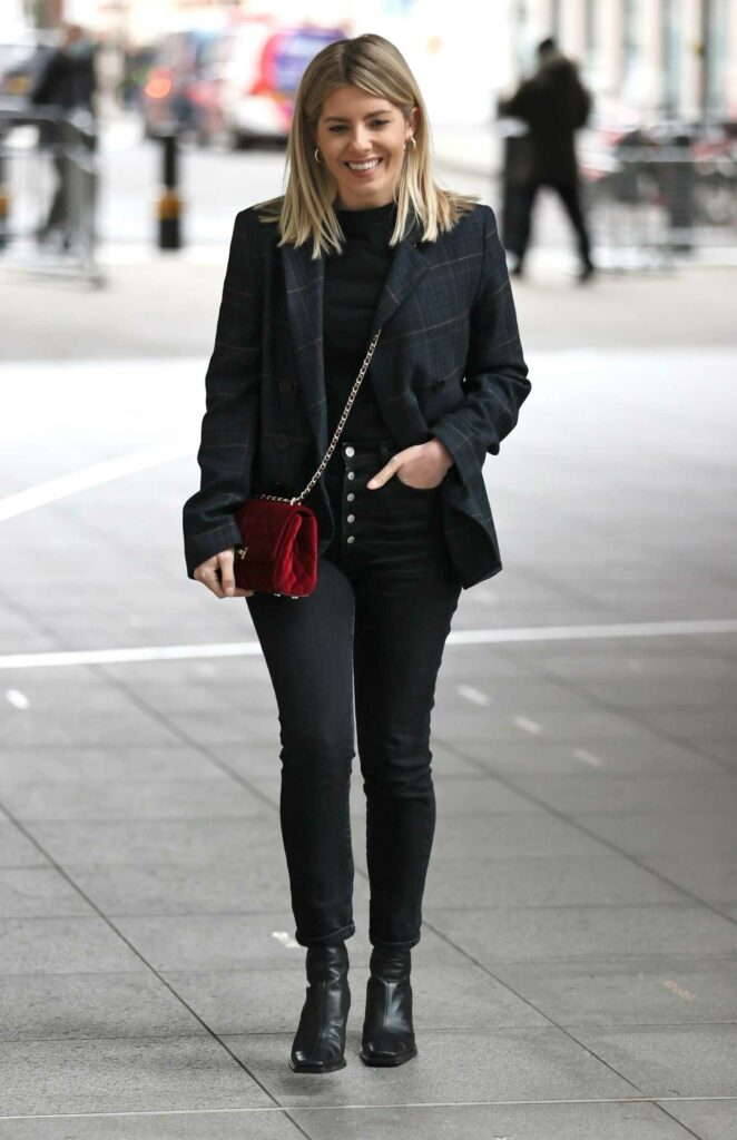 Mollie King in a Black Outfit