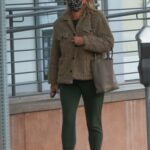 Molly Sims in a Beige Jacket Was Seen Out in Santa Monica